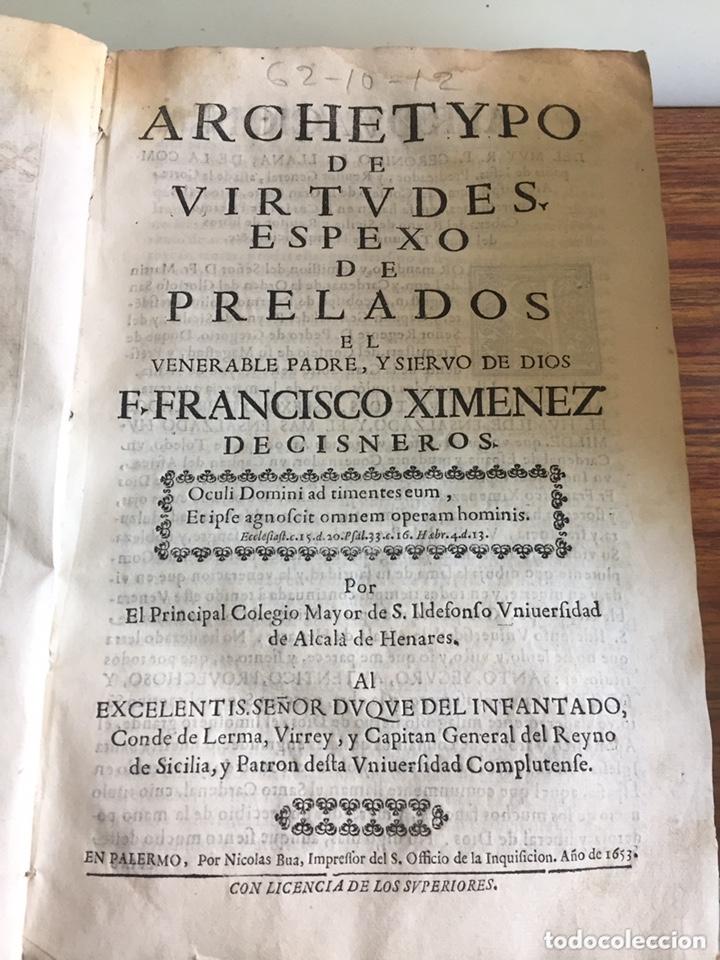 ARCHETYPO DE VIRTUDES, ESPEXO DE PRELADOS. PEDRO DE ARANDA QUINTANILLA Y MENDOZA (1653) (Libros Antiguos, Raros y Curiosos - Biografías )