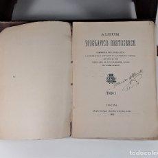 Livres anciens: ÁLBUM BIOGRÁFICO DERTOSENSE. TOMO I. VV. AA. TIP. GABRIEL LLASAT. TORTOSA. 1892.. Lote 175184514