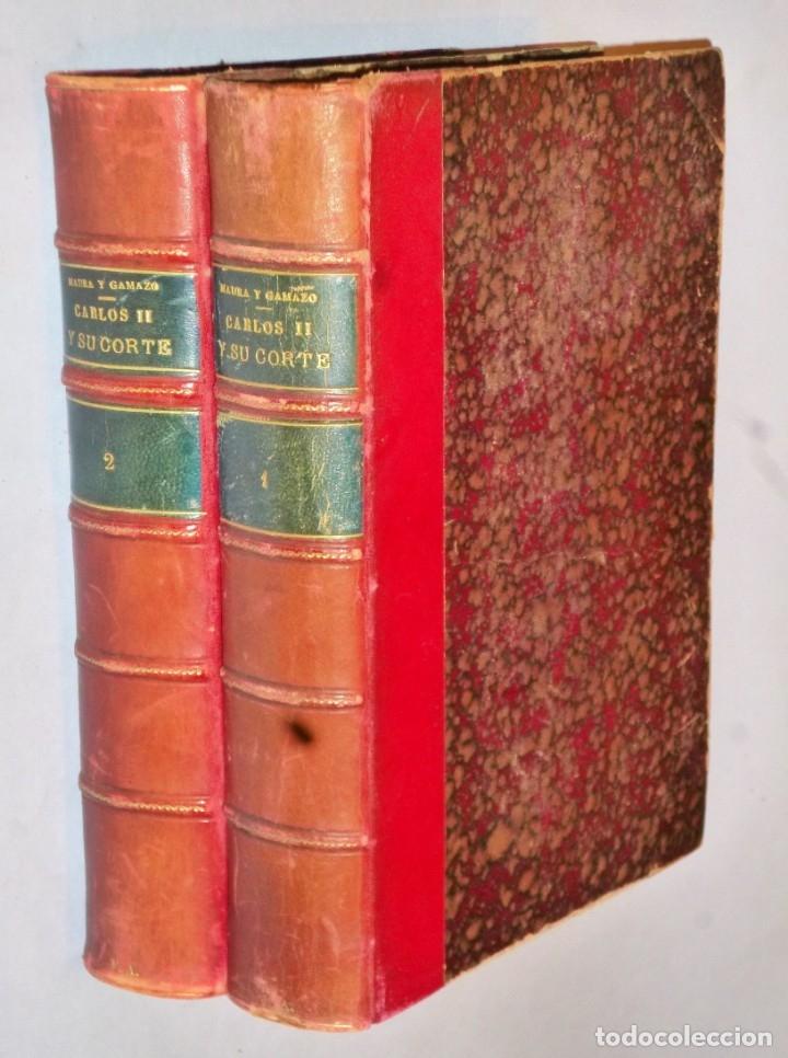 CARLOS II Y SU CORTE. ENSAYO DE RECONSTRUCCIÓN BIOGRÁFICA. 2 TOMOS. (Libros Antiguos, Raros y Curiosos - Biografías )