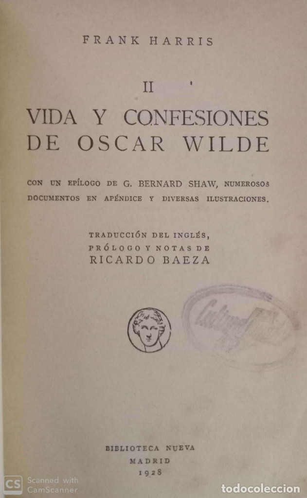 Libros antiguos: Confesiones de Oscar Wilde (tomo II) - Foto 2 - 176077558