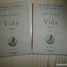 Libros antiguos: TORRES VILLARROEL-VIDA MEMORIAS- TOMOAS 1 Y 2. Lote 176206808