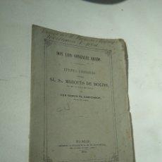 Libros antiguos: EPÍSTOLA NECROLÓGICA AL MARQUÉS DE MOLINS.. Lote 176994419