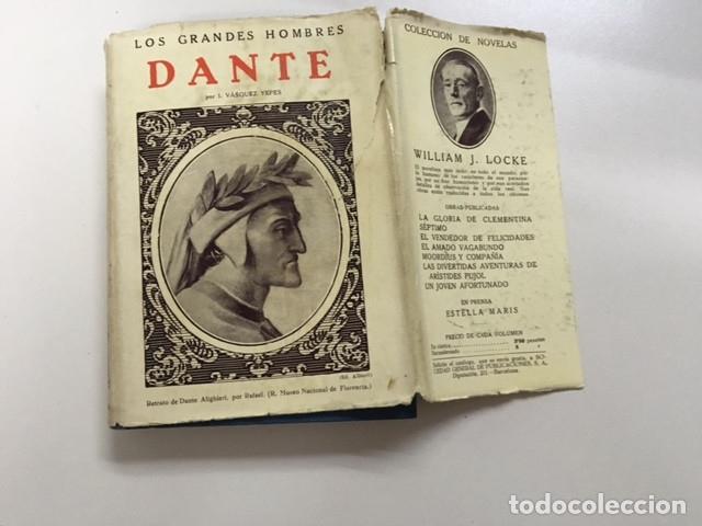 Libros antiguos: Dante de I. Vásquez Yepes - Colección Grandes Hombres - Foto 3 - 177666452