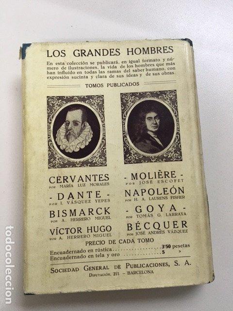 Libros antiguos: Dante de I. Vásquez Yepes - Colección Grandes Hombres - Foto 4 - 177666452