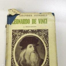 Libros antiguos: LEONARDO DA VINCI DE TRISTÁN KLINGSOR - COLECCIÓN GRANDES HOMBRES. Lote 221953627