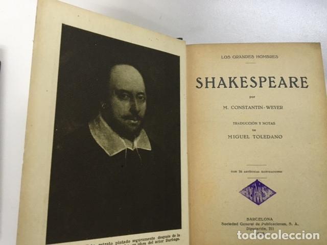 Libros antiguos: Shakespeare de M. Constantin Weyer - Colección Grandes Hombres - Foto 2 - 177669674