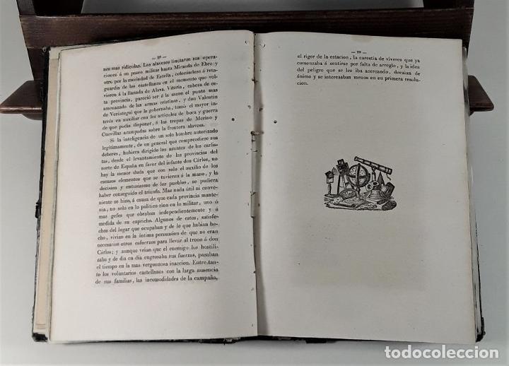 Libros antiguos: VIDA Y HECHOS DE DON TOMÁS DE ZUMALACARREGUI. J. A. ZARATIEGUI. MADRID. 1845. - Foto 6 - 178033055