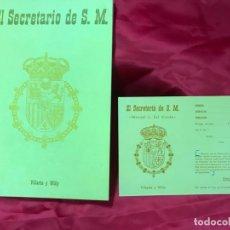 Libros antiguos: VILLARÍN Y WILLY. EL SECRETARIO DE S. M. (MANUEL FAL CONDE, CARLISTA). 2ª ED. 1975. 1000 EJE. Nº 635. Lote 178604882
