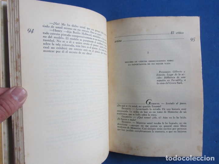 Libros antiguos: Oscar Wilde por Ramón Gómez de la Serna. Primera Edición. Editorial Poseidon 1944 Buenos Aires - Foto 7 - 178964298