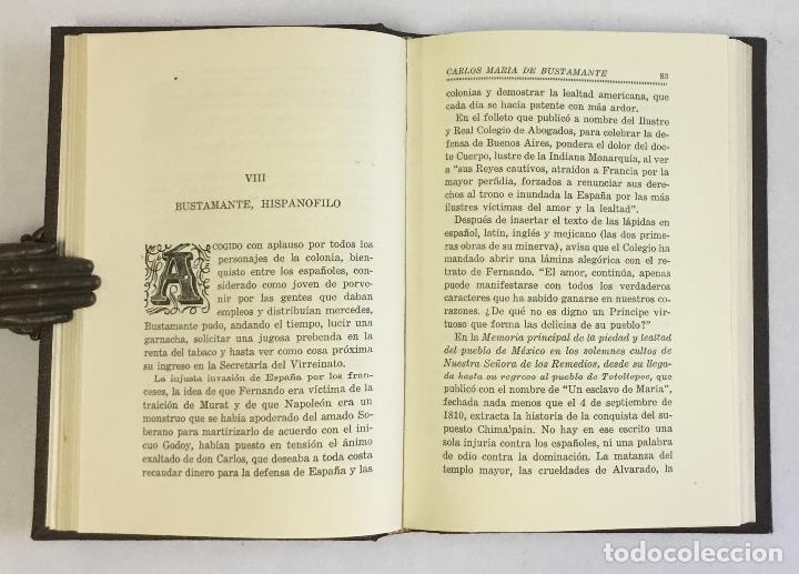 Libros antiguos: LA VIDA AZAROSA Y ROMÁNTICA DE DON CARLOS MARÍA DE BUSTAMANTE. - SALADO ÁLVAREZ, V. - Foto 2 - 180461211