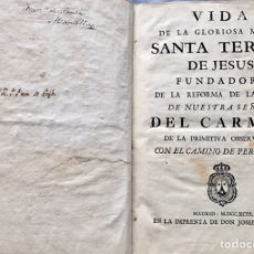 Libros antiguos: VIDA DE SANTA TERESA, 1793. Lote 181742743