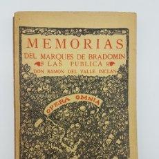 Libros antiguos: MEMÓRIAS DEL MARQUEZ DE BRADOMIN ( VALLE INCLAN ) SONATA PRIMAVERA V. Lote 219976535