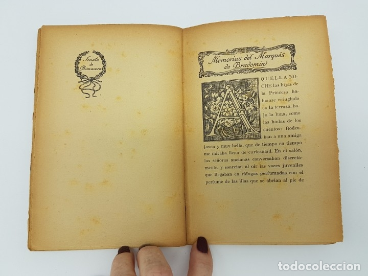 Libros antiguos: MEMÓRIAS DEL MARQUEZ DE BRADOMIN ( VALLE INCLAN ) SONATA PRIMAVERA V - Foto 7 - 219976535