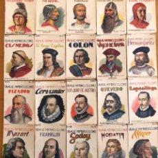 Libros antiguos: VIDAS DE HOMBRES CELEBRES- SOPENA- BARCELONA- SERIE COMPLETA 20 EJEMPLARES- CA 1.920. Lote 183078110