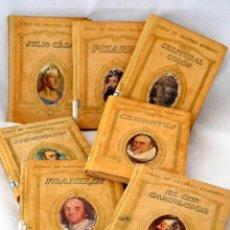 Libros antiguos: LOTE COLECCION DE 7 VIDAS DE GRANDES HOMBRES AÑOS 20 * SEIX BARRAL * FRANKLIN * EL CID * JULIO CESAR. Lote 183317546