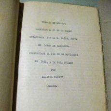 Libros antiguos: EUGENIA DE MONTIJO CONFERENCIA 3º JUNTA DE DAMAS DE BARCELONA . AGUSTIN CALVET GAZIEL 1921. Lote 183521871