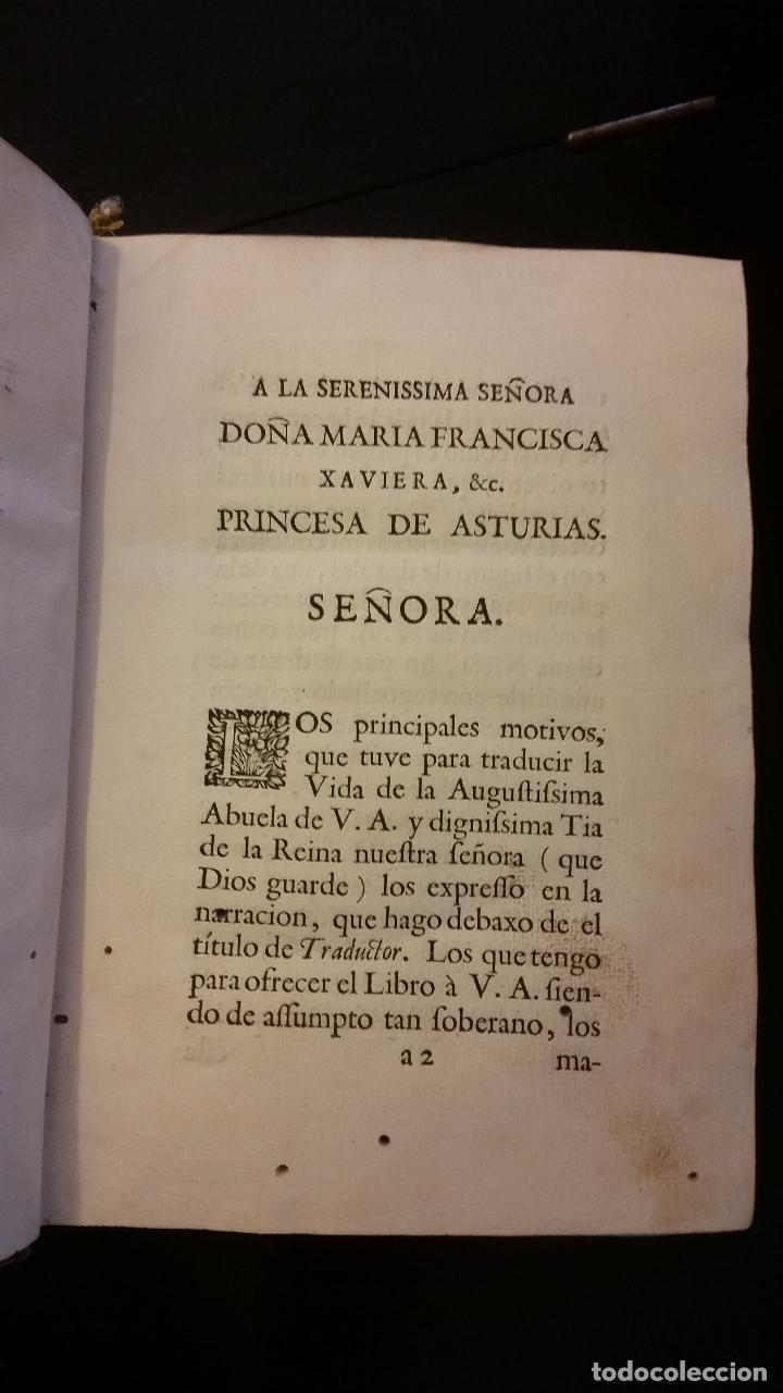 Libros antiguos: 1734 - Vida y virtudes heroicas de la Agustissima emperatriz Leonor Magdalena Theresa - Foto 5 - 183680296