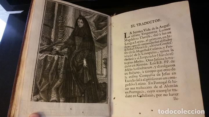 Libros antiguos: 1734 - Vida y virtudes heroicas de la Agustissima emperatriz Leonor Magdalena Theresa - Foto 7 - 183680296