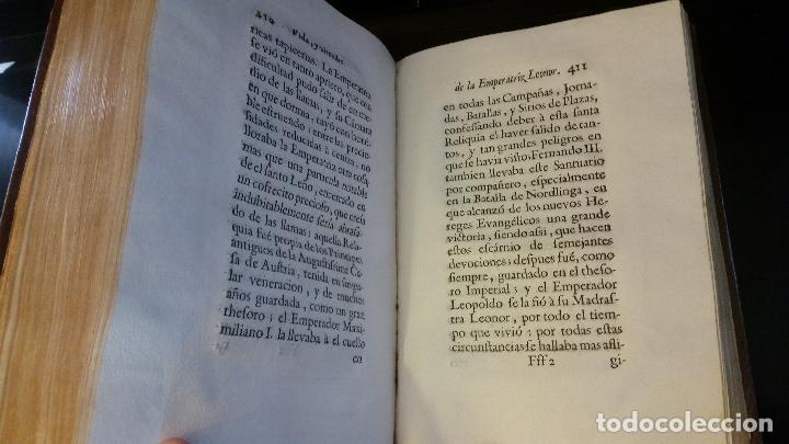 Libros antiguos: 1734 - Vida y virtudes heroicas de la Agustissima emperatriz Leonor Magdalena Theresa - Foto 13 - 183680296