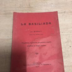 Libros antiguos: LA BASILIADA. Lote 183682377