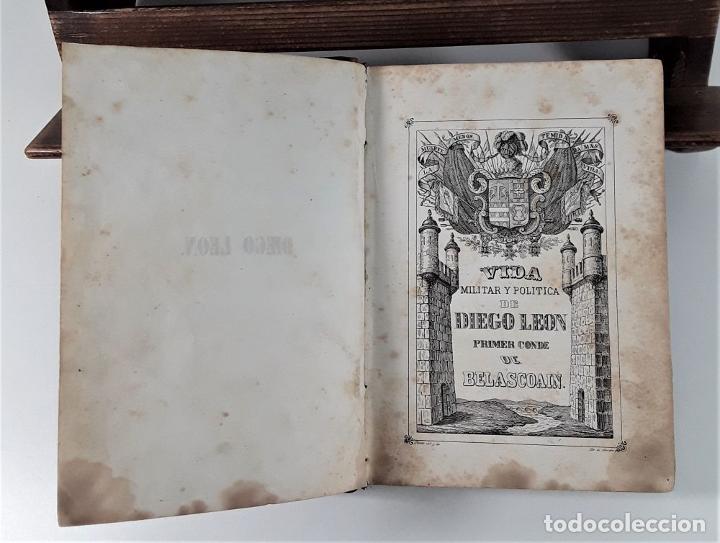 Libros antiguos: VIDA MILITAR Y POLÍTICA DE DIEGO LEÓN. C. MASSA. EST. J. MANINI. MADRID. 1843. - Foto 4 - 183900005
