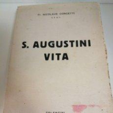 Libros antiguos: S. AUGUSTINI VITA EN LATIN. Lote 183911173