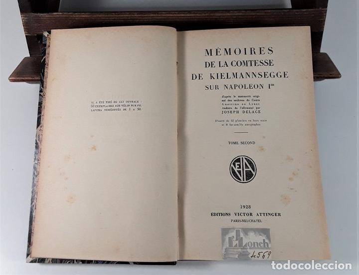 Libros antiguos: MÉMOIRES DE LA COMTESSE DE KIELMANNSEGGE SUR NAPOLEON 1ª. 2 TOMOS. 1928. - Foto 8 - 185788242