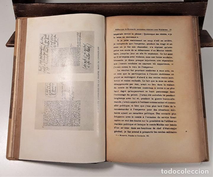 Libros antiguos: PENSÉES ET SOUVENIRS DU PRINCE OTTO VON BISMARCK. IMP. STRASBOURGEOISE. PARÍS. 1919. - Foto 6 - 188669527