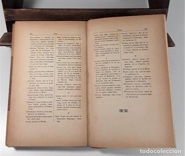 Libros antiguos: PENSÉES ET SOUVENIRS DU PRINCE OTTO VON BISMARCK. IMP. STRASBOURGEOISE. PARÍS. 1919. - Foto 8 - 188669527