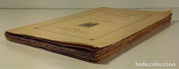 Libros antiguos: HENRI CORNÉLIS AGRIPPA SA VIE ET SON OEUVRES DAPRÈS SA CORRESPONDANCE(1486-1535). - Foto 2 - 189091340