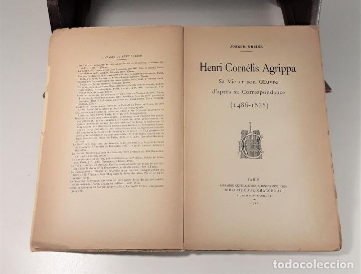 Libros antiguos: HENRI CORNÉLIS AGRIPPA SA VIE ET SON OEUVRES DAPRÈS SA CORRESPONDANCE(1486-1535). - Foto 4 - 189091340
