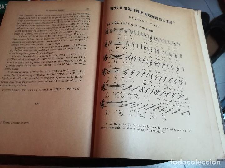 Libros antiguos: EL INGENIOSO HIDALGO MIGUEL DE CERVANTES... SUCESOS DE SU VIDA.. POR FRANCISCO NAVARRO Y LEDESMA - Foto 5 - 189605366