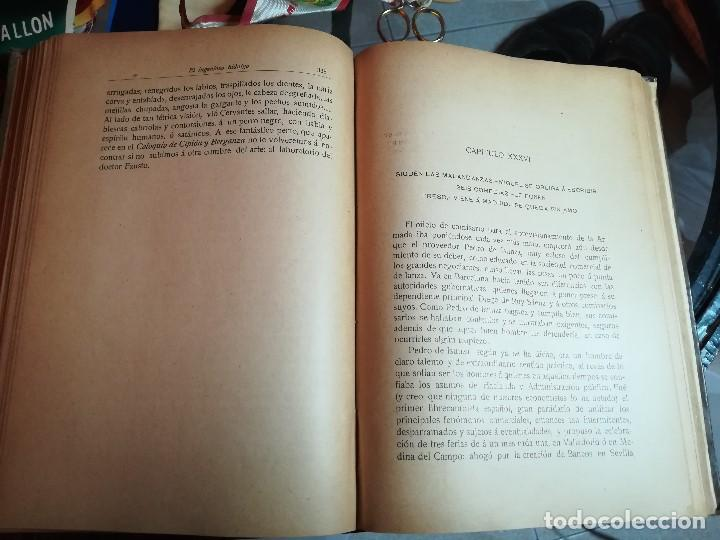 Libros antiguos: EL INGENIOSO HIDALGO MIGUEL DE CERVANTES... SUCESOS DE SU VIDA.. POR FRANCISCO NAVARRO Y LEDESMA - Foto 6 - 189605366