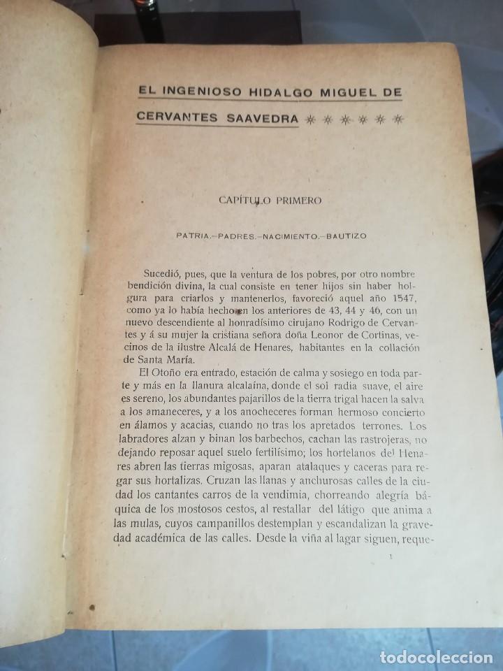 Libros antiguos: EL INGENIOSO HIDALGO MIGUEL DE CERVANTES... SUCESOS DE SU VIDA.. POR FRANCISCO NAVARRO Y LEDESMA - Foto 10 - 189605366