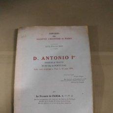 Libros antiguos: D. ANTONIO 1ER. CONGRESO DE LA SOCIEDAD DE HISTORIA DE PARIS. Lote 189805063