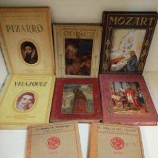 Libros antiguos: 8 LOTE VIDAS DE GRANDES HOMBRES SEIX Y BARRAL COLECCIÓN ARALUCE Y LOS GRANDES NOVELISTAS. Lote 192366568