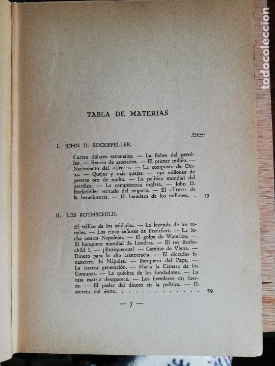 Libros antiguos: La conquista de la riqueza. Richard Lewinsohn. 1ª Edic. 1929. Joaquín Gil Editor - Foto 5 - 193320320