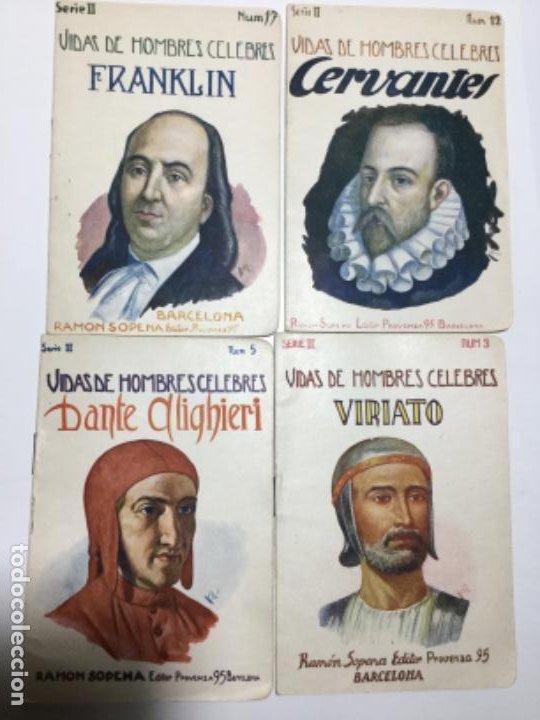 VIDAS DE HOMBRES CELEBRES - 4 EJEMPLARES (Libros Antiguos, Raros y Curiosos - Biografías )
