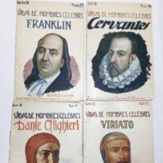 Libros antiguos: VIDAS DE HOMBRES CELEBRES - 4 EJEMPLARES. Lote 194126027