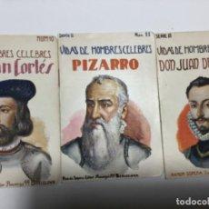 Libros antiguos: VIDAS DE HOMBRES CELEBRES - 3 EJEMPLARES. Lote 194126083