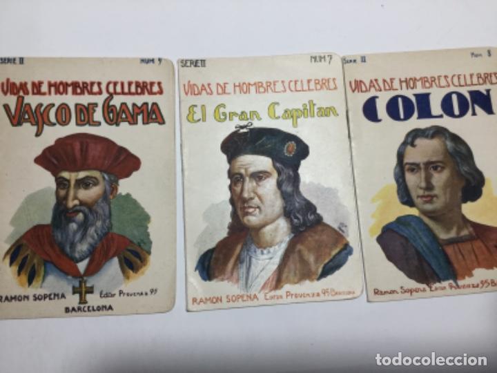 VIDAS DE HOMBRES CELEBRES - 3 EJEMPLARES (Libros Antiguos, Raros y Curiosos - Biografías )