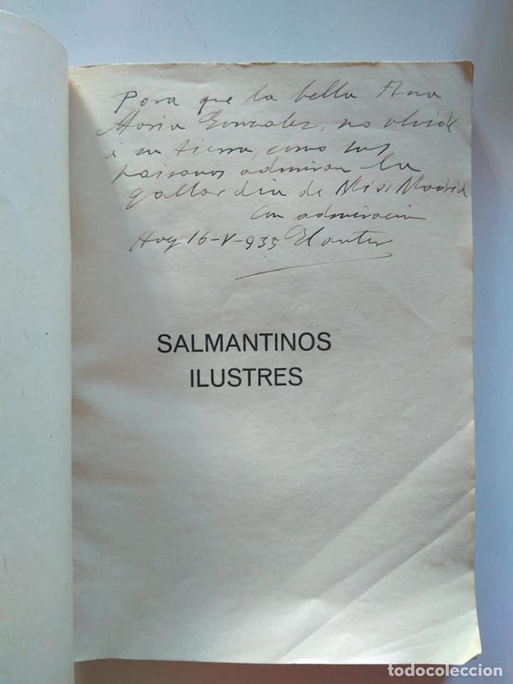 Libros antiguos: Mariano de Santiago Cividanes: Salmantinos ilustres. Firmado y dedicado por el autor. 1934 - Foto 3 - 194177125
