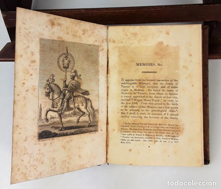 Libros antiguos: MEMOIRS OF ALESSANDRO TASSONI. PRINTED LONGMAN, HURST, REES, ORME, AND BROWN. LONDON. 1825 - Foto 7 - 137980282