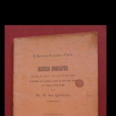 Libros antiguos: P. LUCIANO GALLISSÁ Y COSTA. DISCURSO BIOGRAFICO LEIDO EL DIA.. POR D. JOSÉ GALOBARDES. Lote 194993215