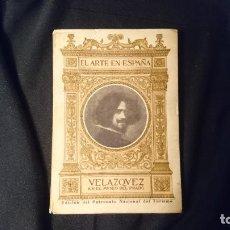 Libros antiguos: VELAZQUEZ. COLECCIÓN EL ARTE EN ESPAÑA. AÑOS 30.. Lote 195175626