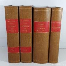 Libros antiguos: HISTORIA DE FELIPE II. 7 TOMOS EN 4 VOLUM. VARIOS AUTORES. VARIAS EDITORIALES. . Lote 195296843