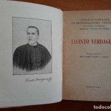 Libros antiguos: 1945 JACINTO VERDAGUER : POESÍA - ATLÁNTIDA - CANIGÓ - LLEGENDA DE MONTSERRAT. Lote 195367207