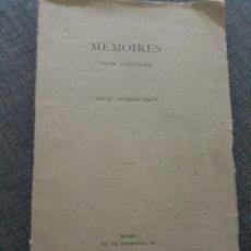 Libros antiguos: MEMOIRES D UNE CONVERTIE .RECIT AUTHENTIQUE. ROME 1923. Lote 195855862