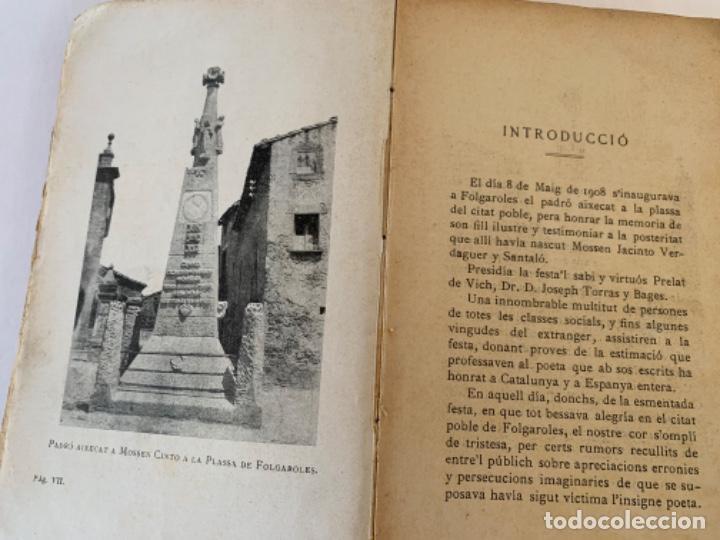 Libros antiguos: Vida íntima de Mossen Jacinto Verdaguer de Joan Güell, sobre. - Foto 4 - 197081028