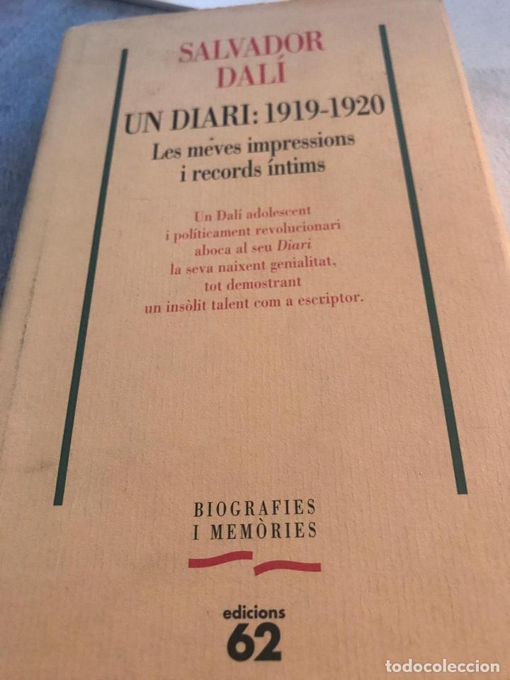 DALÍ SALVADOR , LIBRO UN DIARI 1.919 - 1.920 LES MEVES IMPRESSIONS I RECRDS ÍNTIMS (Libros Antiguos, Raros y Curiosos - Biografías )